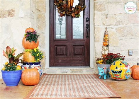 decorating front porch for fall outdoor fall decorating ideas