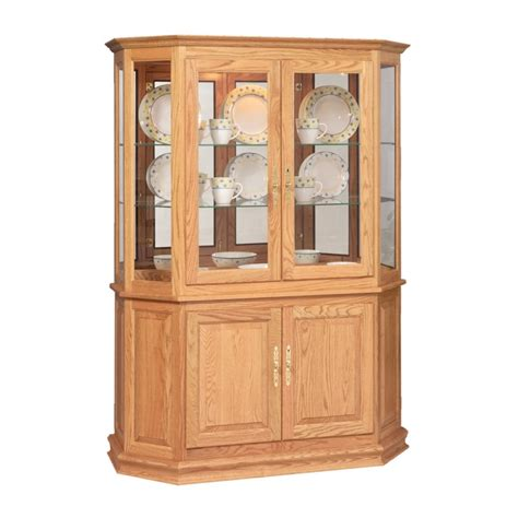 Angled Cabinet by Angled Door Picture Frame Curio With Enclosed Base