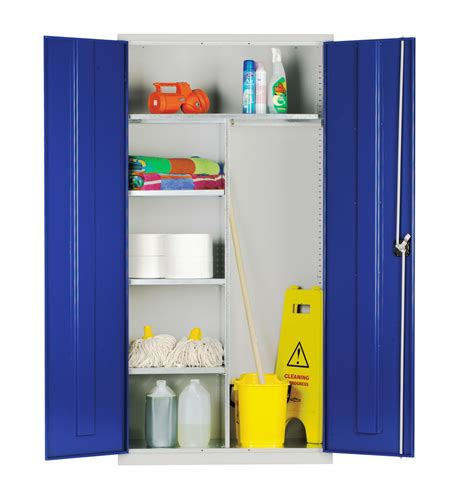 extra large storage cabinets janitorial cleaners cupboards standard and extra wide