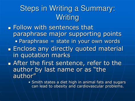 ppt characteristics of a summary powerpoint presentation id 1204187