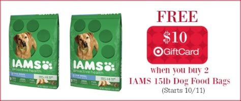 target iams food target iams food 15 pound bags only 2 95 each starting october 11th