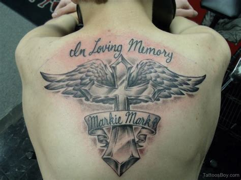 cross tattoo designs for back wings tattoos designs pictures page 2