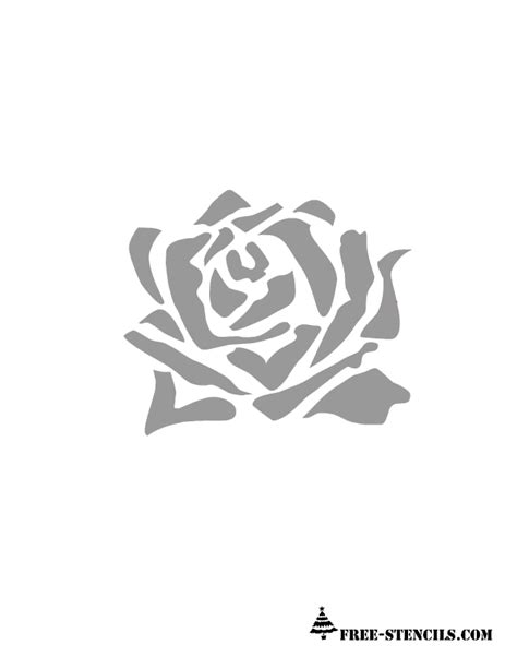 Printable Stencils Rose | image gallery rose stencil