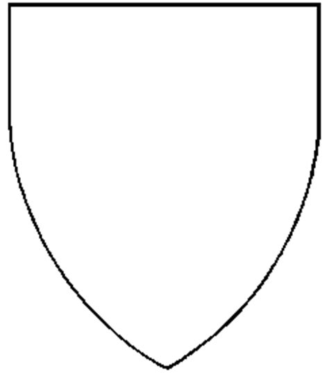 blank shield template printable printable sheets for heraldic shields rice n three
