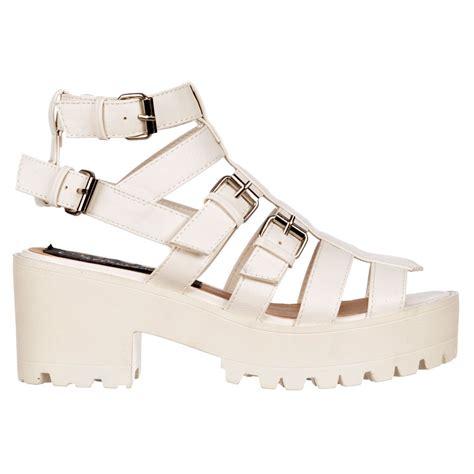 shoekandi gladiator cut out platform summer sandals