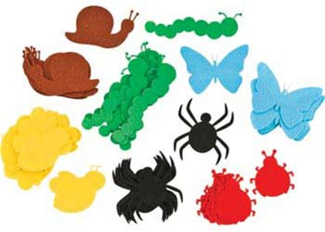 felt worm pattern felt bug shapes set of 60 mta catalogue