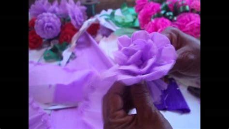 como hacer una rosa imgenes diademas de flores de papel crepe