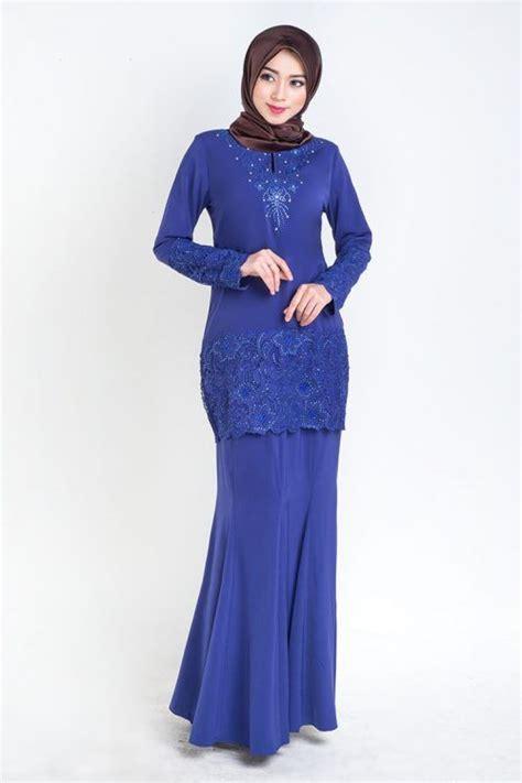gambar baju kurung moden baju kurung moden lace prada royal blue kurung terkini