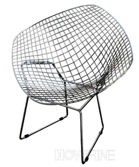 steel wire chair diamand 1 metal lounge chair