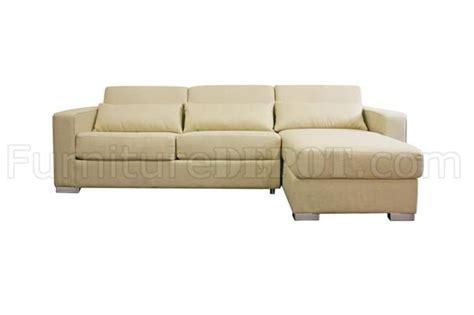 cream sleeper sofa cream fabric modern sleeper sectional sofa w storage chaise