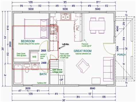 20 X 20 Cabin Plans by 20x30 Cabin Plans With Loft 20 X 30 Cabin Floor Plans With