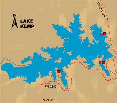 kemp texas map access to lake kemp