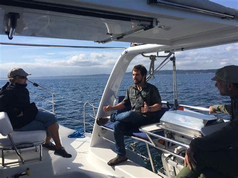amelia catamaran charters sailing in the puget sound - Catamaran Amelia Island