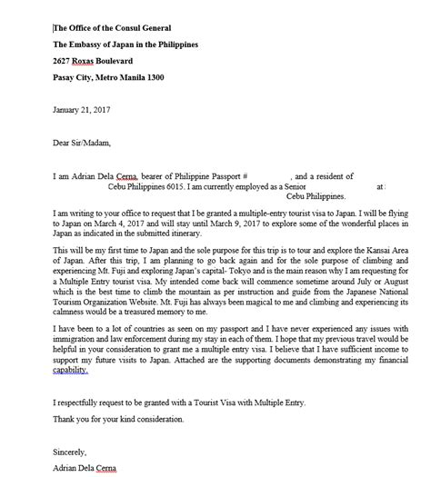 Sle Letter Of Support For Japan Visa authorization letter for japan visa application 28
