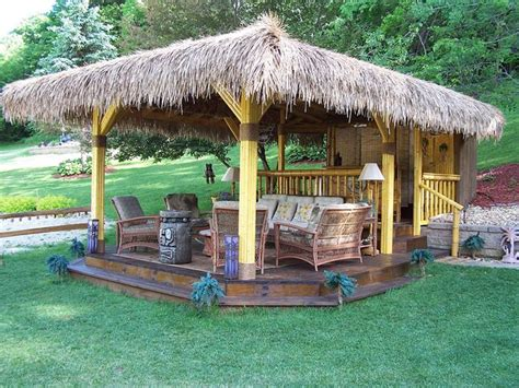 95 Best Images About Backyard Beach Tiki Bar Ideas On Backyard Tiki Hut