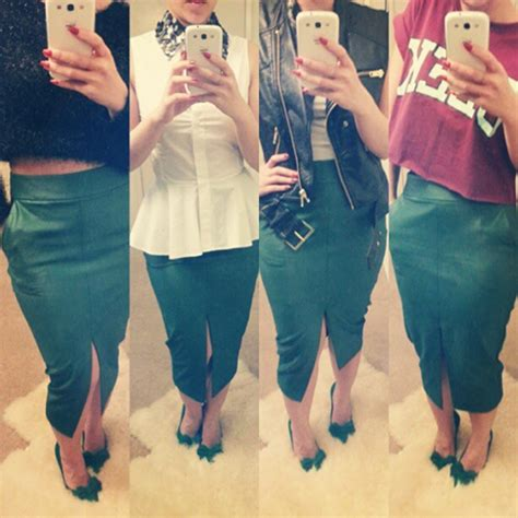 Kt Pencil Skrit the in the green pencil skirt ktrstyle