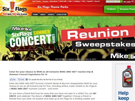 Summer Concert Sweepstakes - mike and ike summer concert series reunion sweepstakes