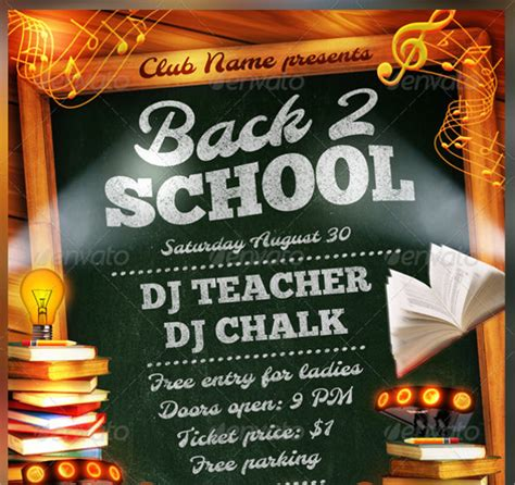 21 Back To School Flyer Templates Sle Templates School Photo Templates Free