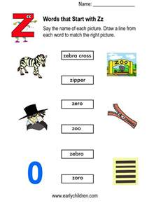 Words Letter Z Things That Start With Letter A Clipart 19