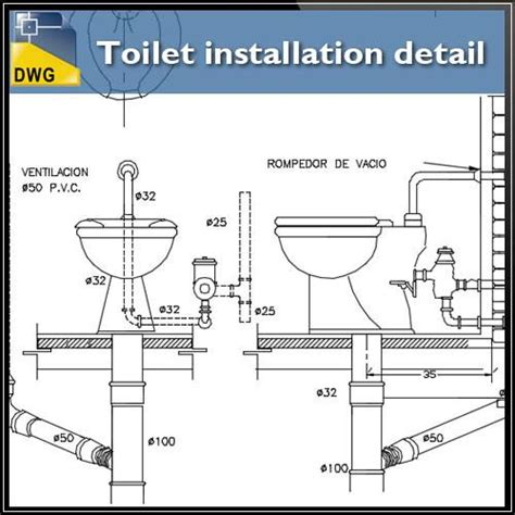 Toilet installation details ? CAD Design Free CAD Blocks,Drawings,Details