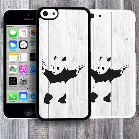 Banksy Panda Iphone 4 4s 5 5s 5c 6 6s 7 Plus banksy iphone 5c panda with guns iphone 5s