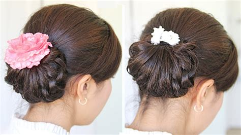 Homecoming Hairstyles For Hair Tutorial by Homecoming Knotted Hair Bun Updo Hairstyle For Medium Hair