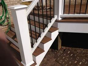 Trex Stair Railing by Picture Framed Stairs With Trex Railings And Oversized