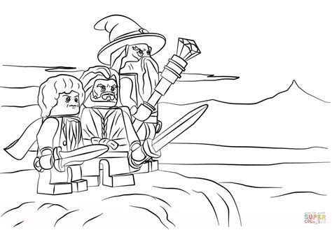 lego the hobbit coloring page free printable coloring pages