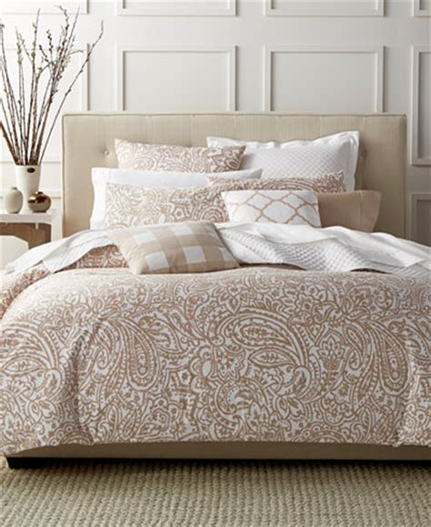 Macy Bedding by Charter Club Damask Designs Paisley Taupe King Comforter