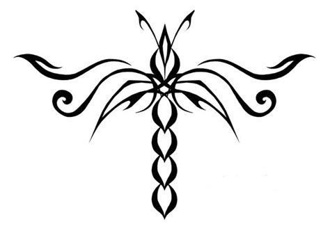 dragonfly tattoo drawing 1 mociarane clipart best