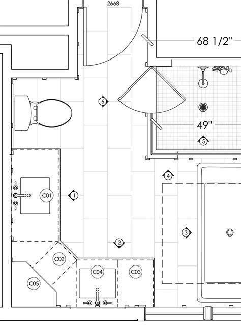 masculine modern farmhouse bathroom floor plan jillian