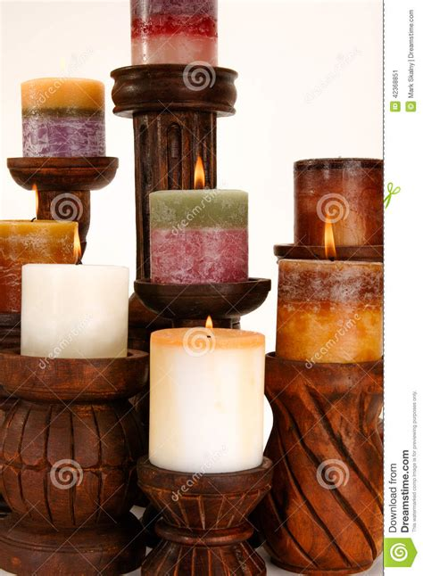 Scented Decorative Candles by Decorative Scented Candles Stock Photo Image 42368851