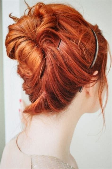 easy messy buns for shoulder length hair 20 easy updo hairstyles for medium hair pretty designs