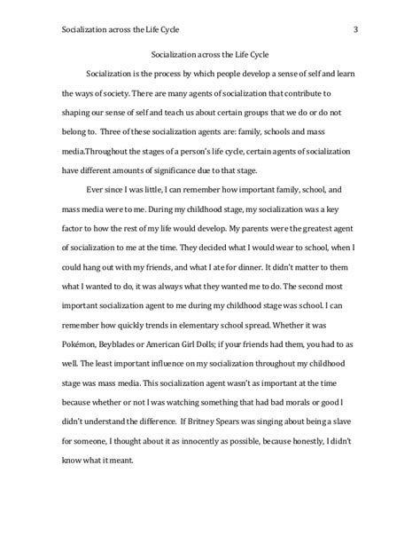 Agents Of Socialization Essay by Socialization Across The Cycle