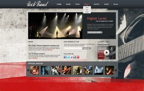 drupal themes live demo music band drupal template 34393
