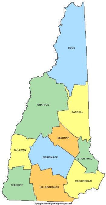 us map new hshire new hshire united states genealogy genealogy