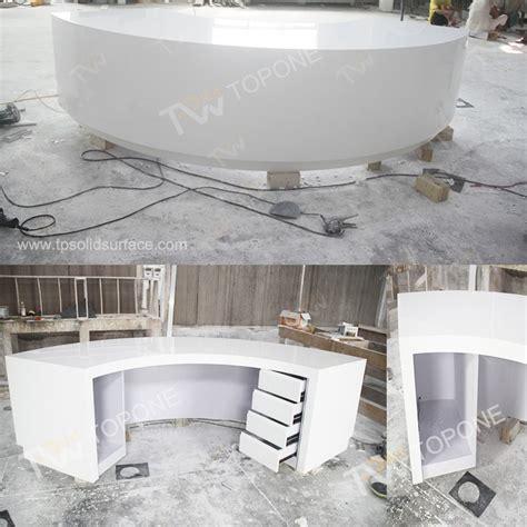 cnc carved white salon reception desk for sale with led