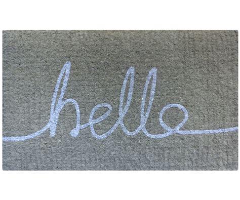 Gray Doormat by Hello Doormat Grey White 100 Coir Doormat