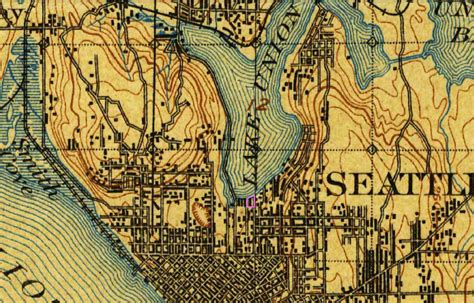 seattle map topo usgs 1897 topographic map of seattle 183 south lake union