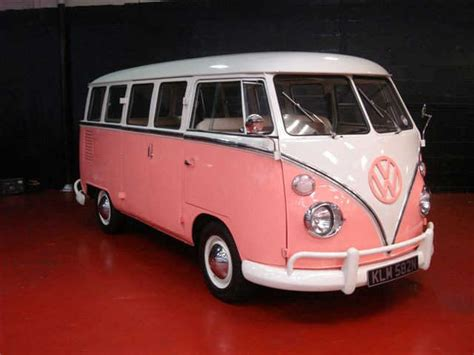 pink volkswagen van pink and ivory vw cer van for pink girls only pinterest