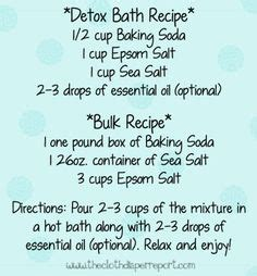 Detox Bath Recipe For Cold by How To Get Rid Of The Flu Fast Detox Bath Sodas Salts