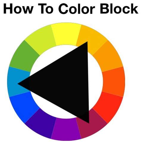 how to colour block a helpful hint provided by style
