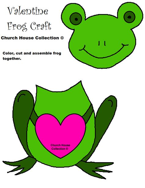 Frog Valentines Card Free Template by Frog Craft I Toad Ally Jesus