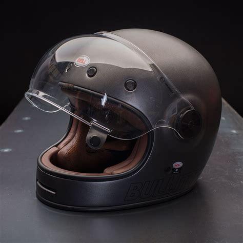 helmet design retro bell bullitt helmet retro metallic titanium industrial