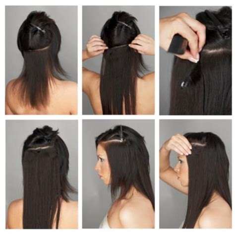 how to use remy clip in hair extensions how to apply clip in human hair extensions models