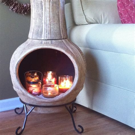 my indoor chiminea candle holder my home decor