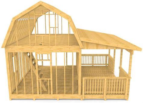barn shed plan  story porch design pauls