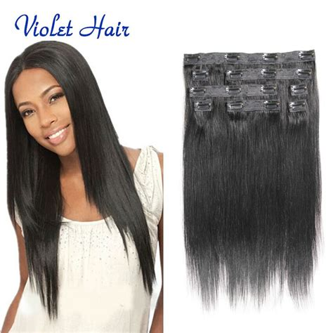 sftican american short clip in hair african american clip on hair extensions indian remy hair