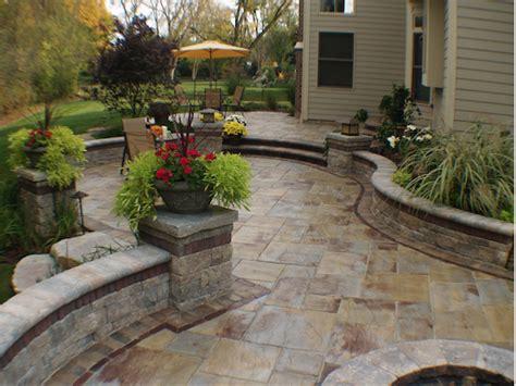 Backyard Cement Patio Ideas Retaining Walls Fireplace Stone Amp Patio