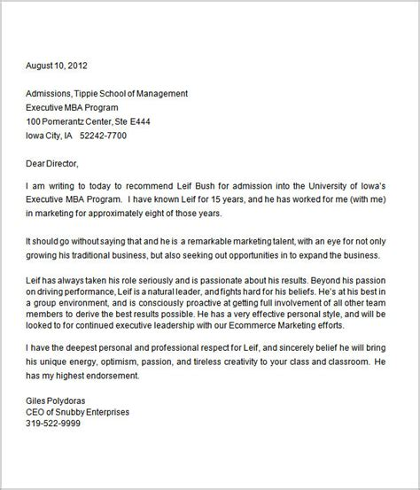 Reference Letter For Graduate School 10 Letters Of Recommendation For Graduate School Sle
